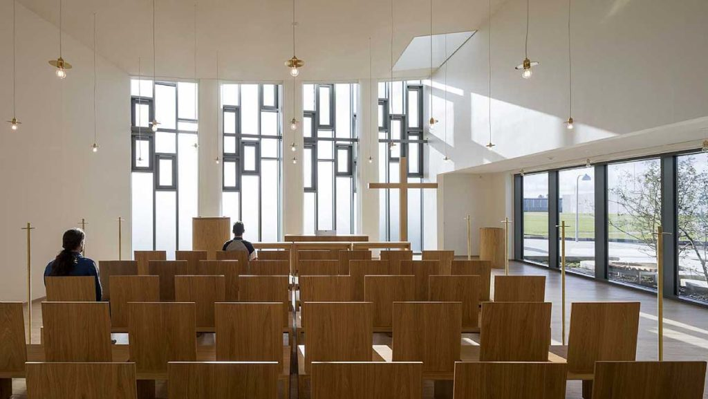 Storstrøm Prison Church by C.F. Møller Architects, photo by Torben Eskerod